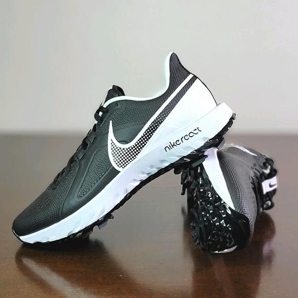 Nike Epic React G Mens Golf Shoes Oreo Black White